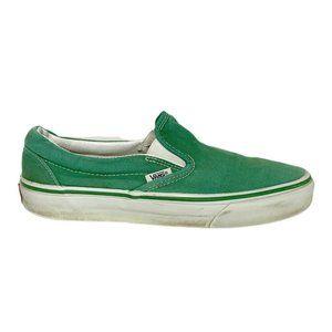 Vans Solid Kelly Green Slip On Sneakers